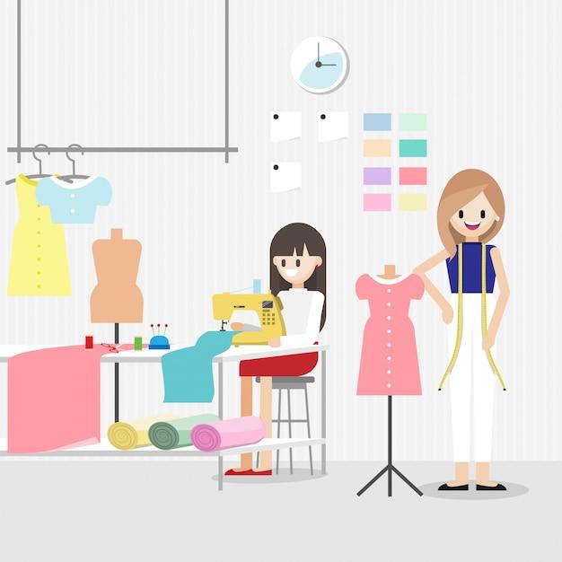 Personaggio dei cartoni animati con lavoro stilista Vettore Premium