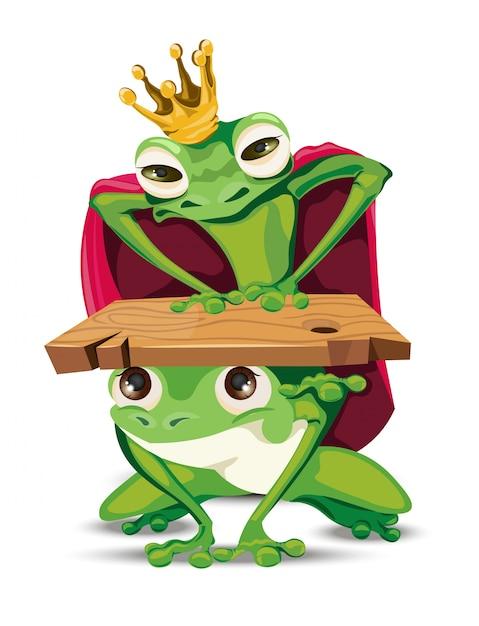 Personaggio dei cartoni animati di rana del re scaricare vettori