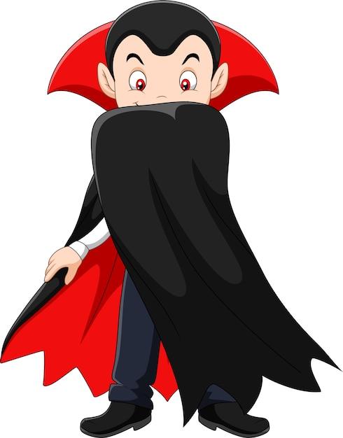 Personaggio dei cartoni animati di vampiro scaricare vettori premium