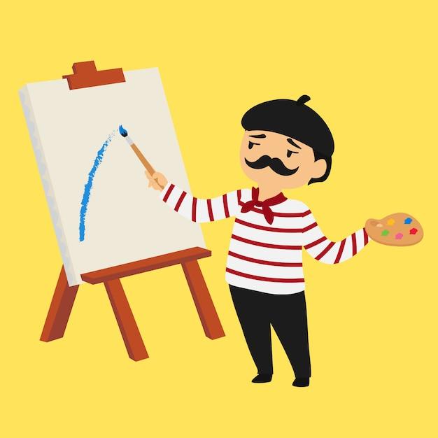 Personaggio dei cartoni animati pittore francese scaricare