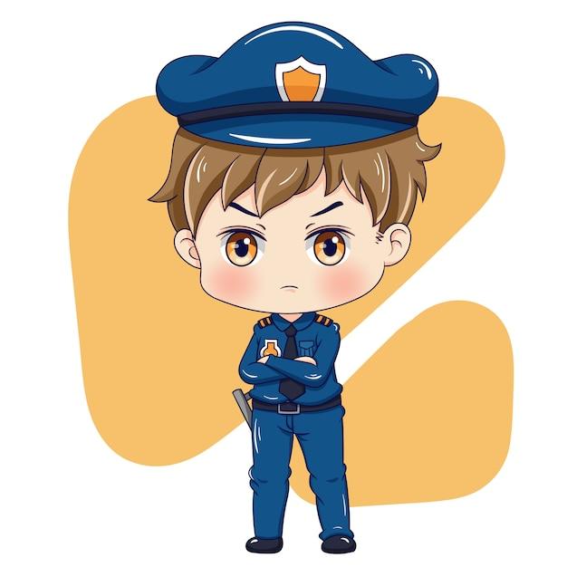 Personaggio dei poliziotti Vettore Premium