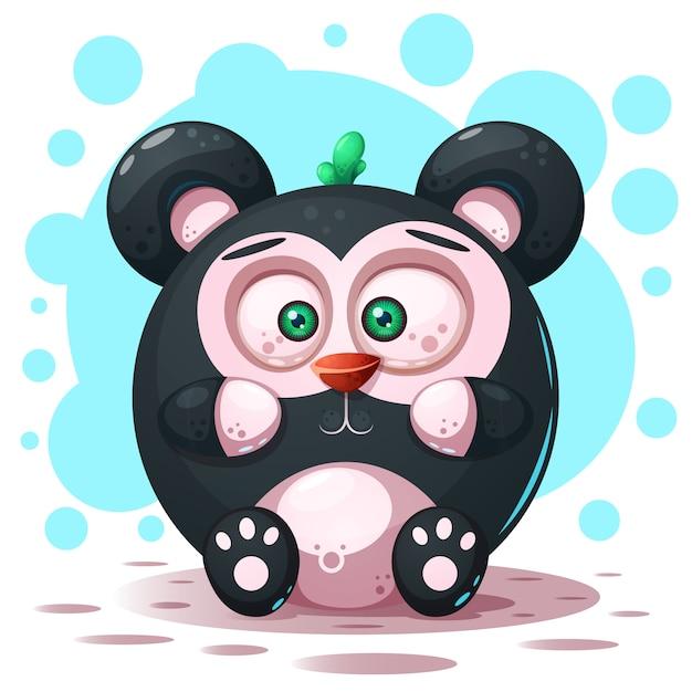 Personaggio di panda dei cartoni animati Vettore Premium