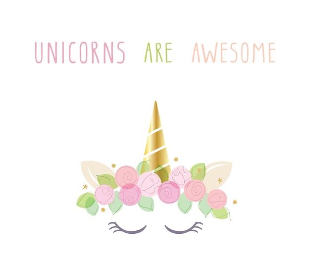 Personaggio simpatico catone di unicorno. Vettore Premium