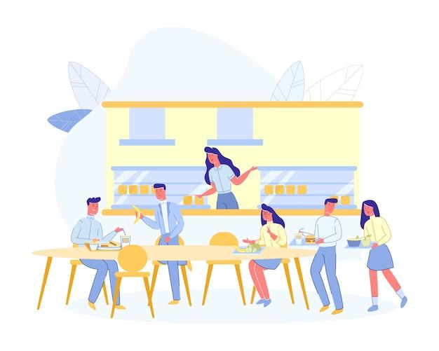 Persone al cafe, coffee house o espresso bar Vettore Premium