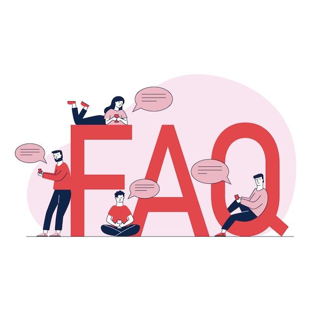 Persone che fanno domande e ricevono istruzioni Vettore gratuito