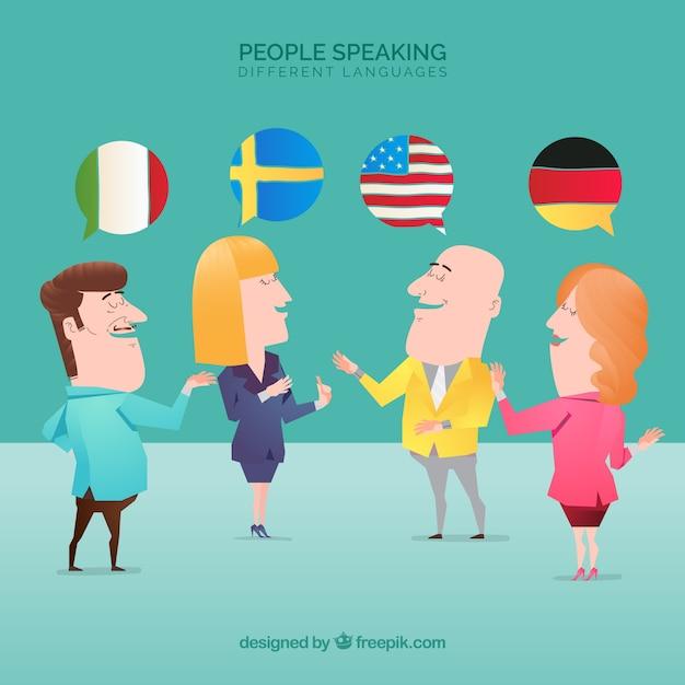 Persone che parlano lingue diverse Vettore gratuito