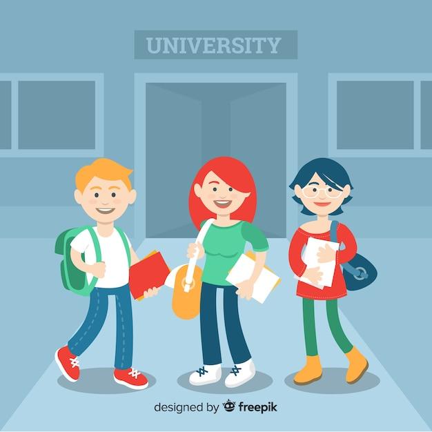 Persone che vanno all'università Vettore gratuito
