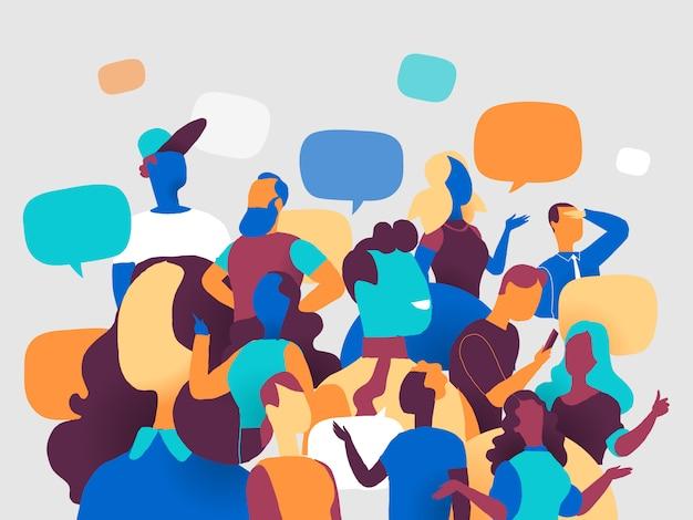 Persone e comunità Vettore Premium