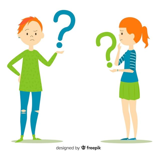 Persone in possesso di punti interrogativi Vettore gratuito