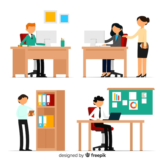 Persone in ufficio Vettore gratuito