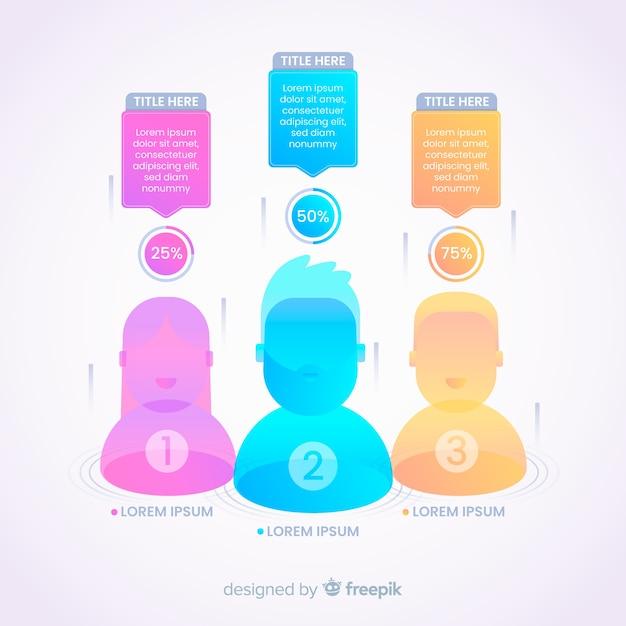 Persone infografica Vettore gratuito