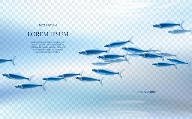 Pesce Azzurro Su Sfondo Chiaro Scaricare Vettori Premium