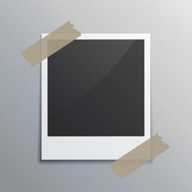 Photograme realistico con nastro adesivo Vettore gratuito