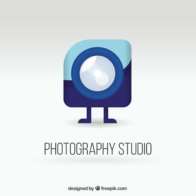Photography studio logo Vettore gratuito