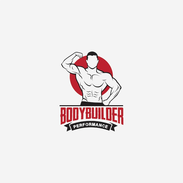Physique bodybuilding gym logo Vettore Premium