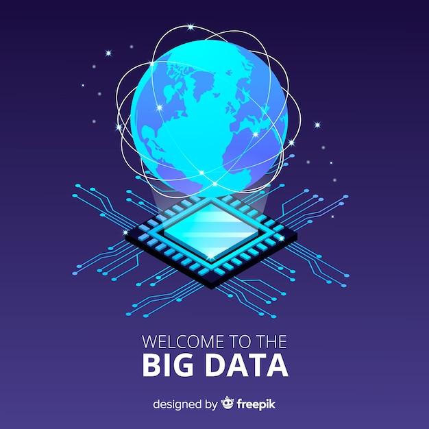 Pianeta sfondo big data Vettore gratuito