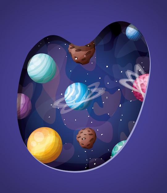 Pianeti del sistema solare Vettore gratuito