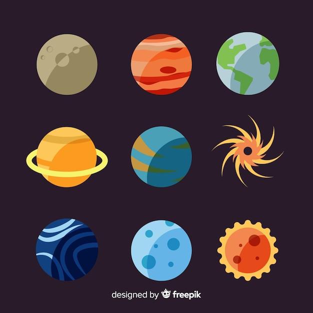 Pianeti diversi dal pacchetto del sistema solare Vettore gratuito