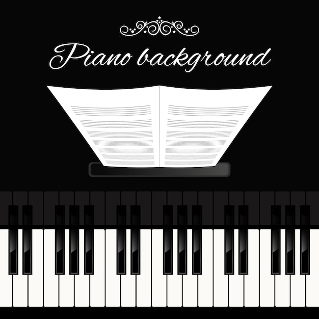 Piano background Vettore gratuito