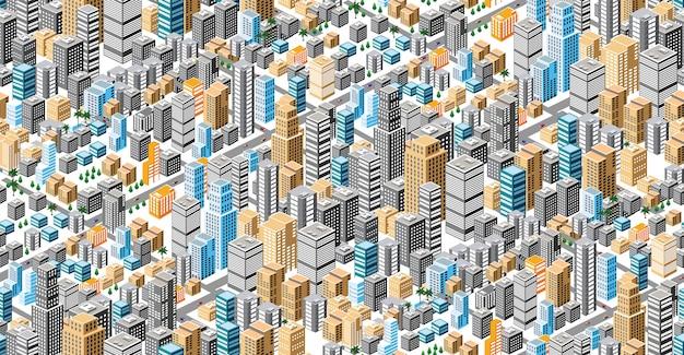 Piano urbano senza soluzione di continuità Vettore Premium