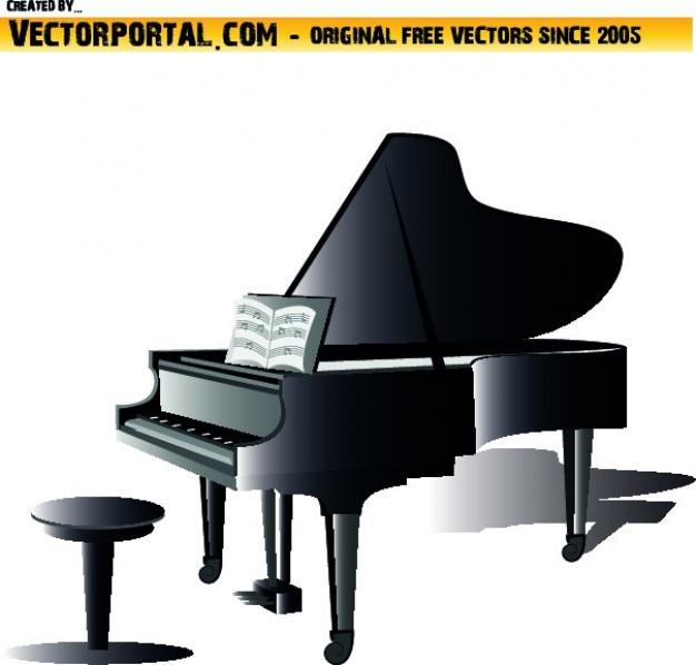 Pianoforte strumento clipart scaricare vettori gratis for Strumento online gratuito piano piano