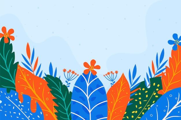 Piatto astratto floreale Vettore gratuito