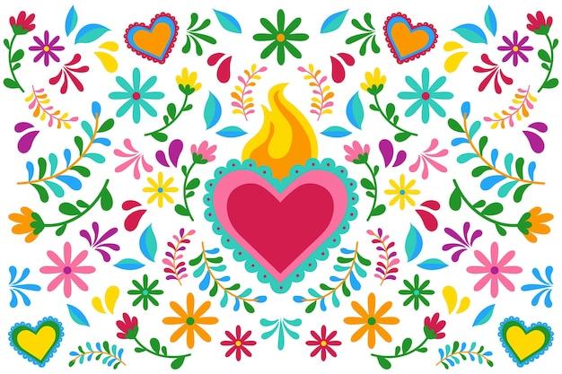 Piatto colorato sfondo messicano Vettore gratuito