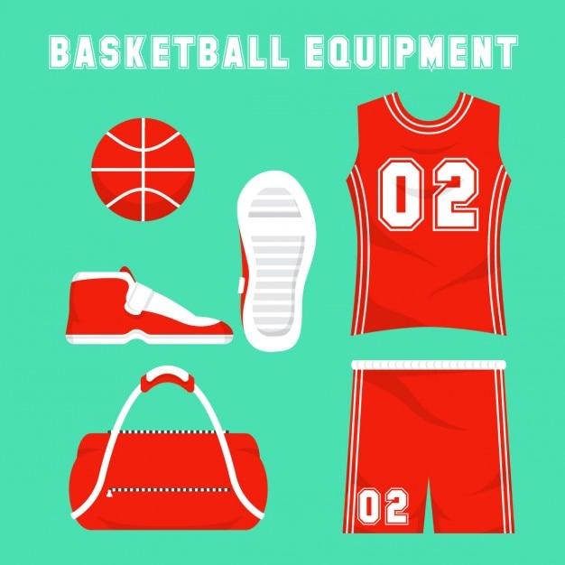 Piatto equipmant basket Vettore gratuito