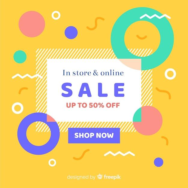 Piatto minimalista astratto vendita sfondo Vettore gratuito