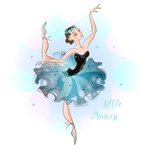 Piccola ballerina Vettore Premium