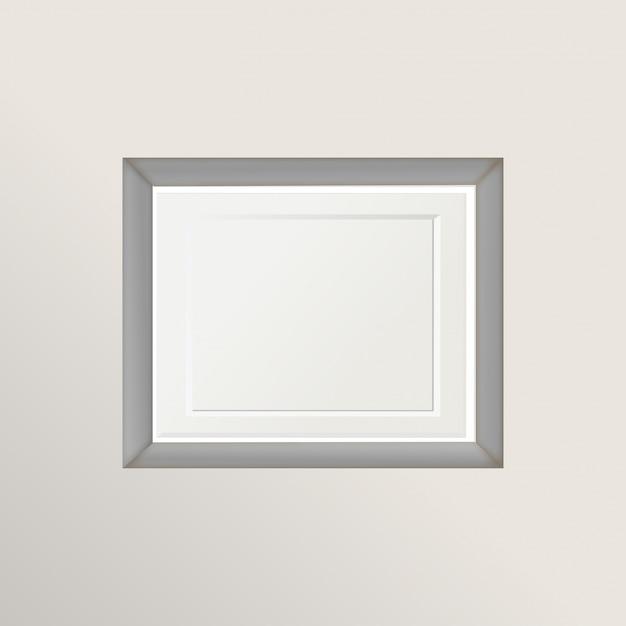 Picture bianco vintage cornice isolato con tracciato di ritaglio Vettore gratuito