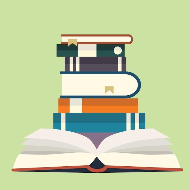 Pila di libri Vettore gratuito