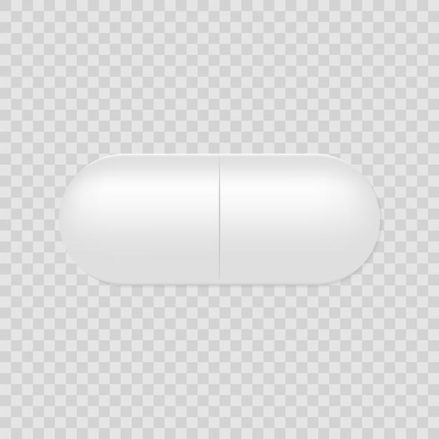 Pillola capsula realistica Vettore Premium