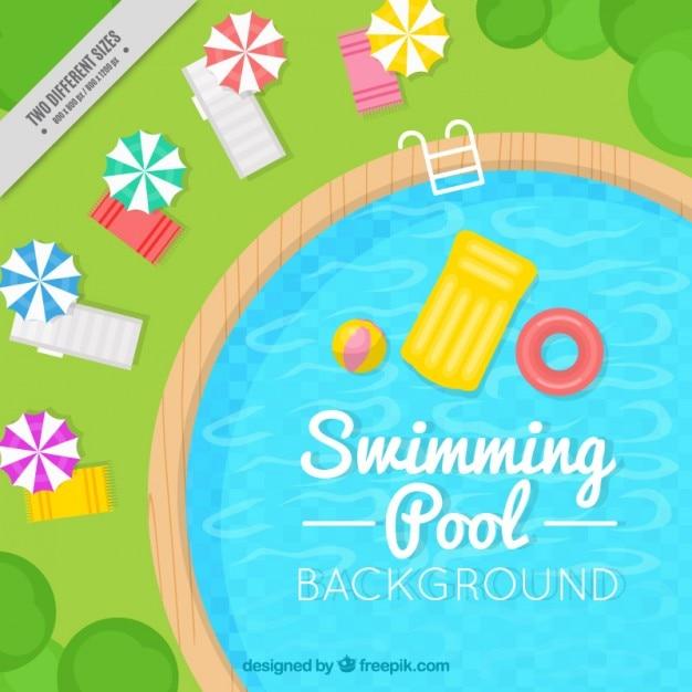 Piscina elegante piscina sfondo Vettore gratuito
