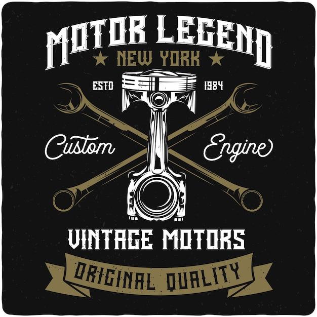 Pistone e chiavi per moto Vettore Premium