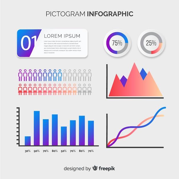 Pittogramma infografica Vettore gratuito