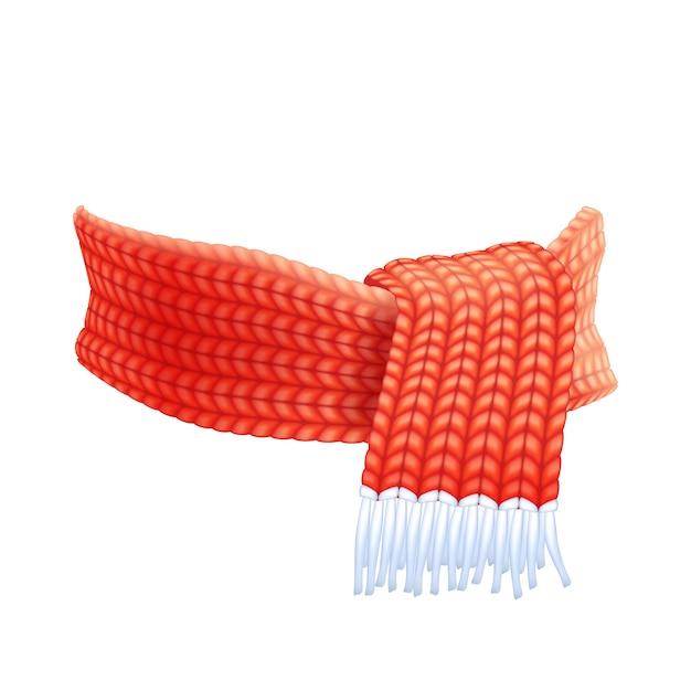Pittogramma piatto di sciarpa a mano inverno lavorato a maglia Vettore gratuito