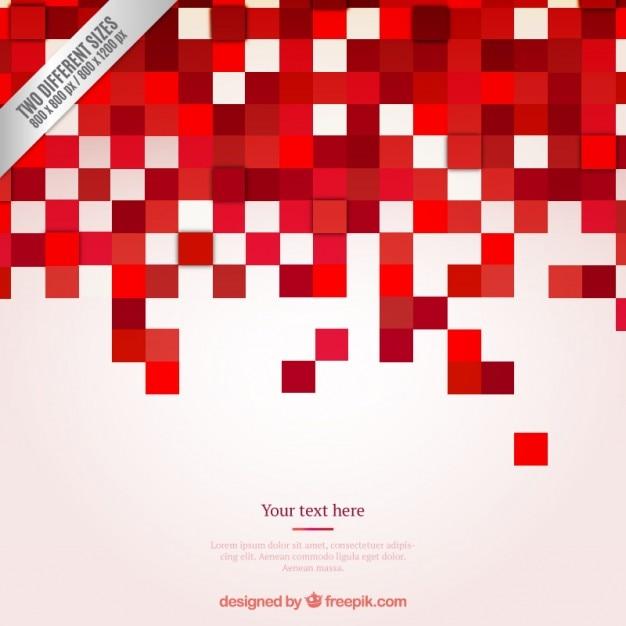 Pixel rosso sfondo Vettore gratuito