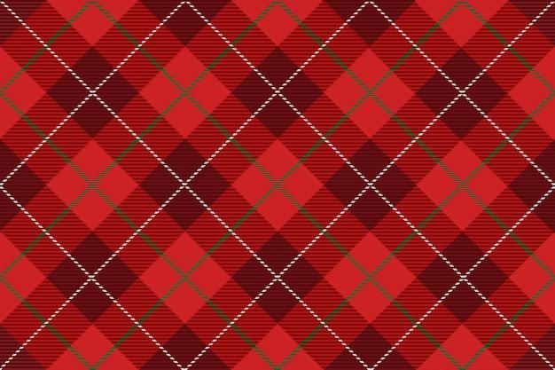Plaid scozzese senza soluzione di continuità, illustrazione vettoriale. ripetibile orizzontalmente e verticalmente. Vettore Premium