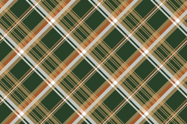 Plaid scozzese verde senza cuciture Vettore Premium
