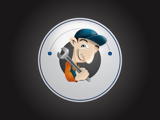 Plumbing baffi cartone animato logo vettoriale scaricare
