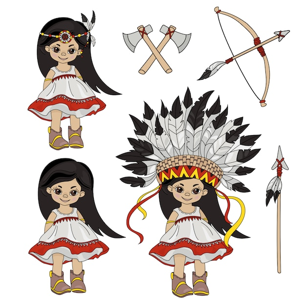 Pocahontas holiday indian princess Vettore Premium