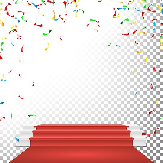 Podio sul palco festivo Vettore Premium