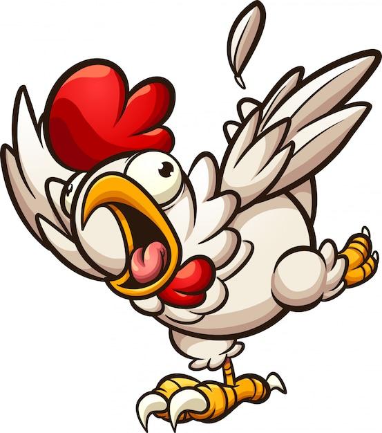 Pollo spaventato Vettore Premium