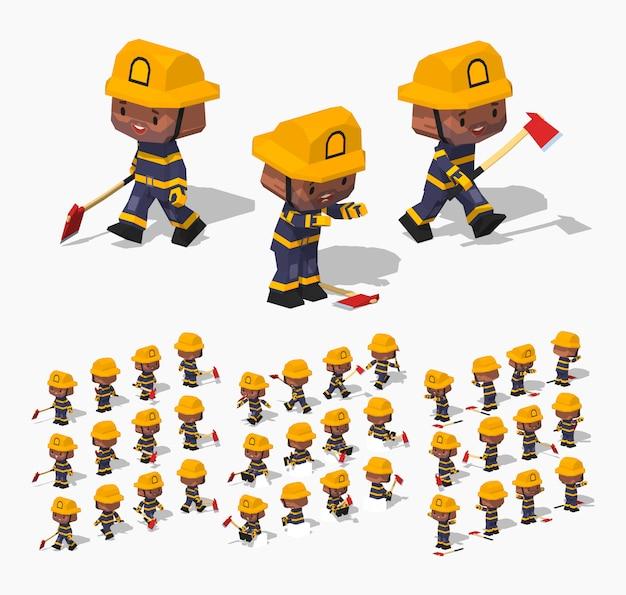 Pompiere poli basso Vettore Premium