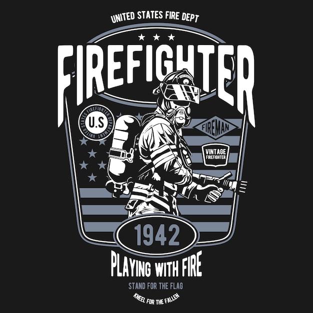 Pompiere Vettore Premium
