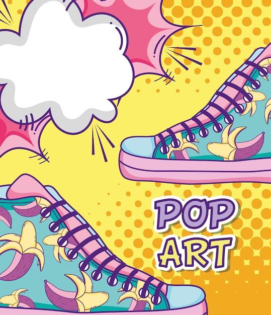 Pop Art Divertenti Cartoni Animati Colorati Scaricare Vettori Premium