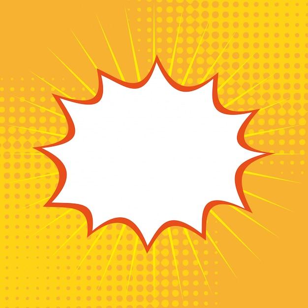 Pop art su sfondo giallo illustrazione vettoriale Vettore Premium