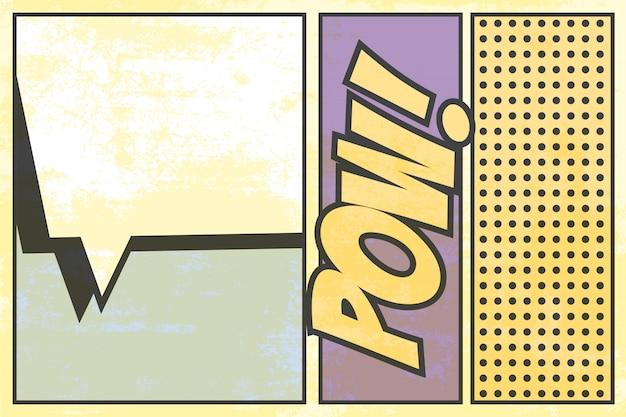 Pop art Vettore Premium