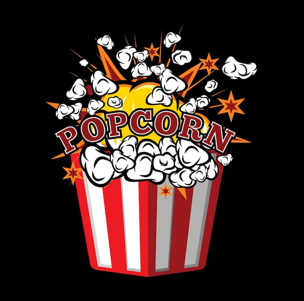 Popcorn Vettore Premium